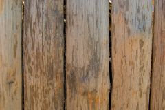 Fence, palings of unrefined wood. The Russian village Stock Photos