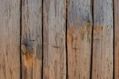 Fence, palings of unrefined wood. The Russian village Stock Image