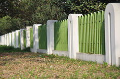 Fence in a park Stock Photography