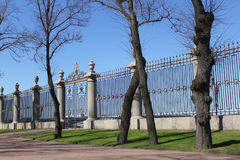 The fence in the park Stock Image