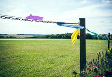 Fence Pennants Royalty Free Stock Photo