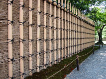 Fence-perpsective. A bamboo fence which surrounds the Katsura Imperial Villa from Kyoto,Japan Royalty Free Stock Photos