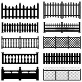 Fence Picket Wooden Wired Brick Garden Park Yard royalty free illustration