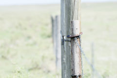 Fence on the Plains of Rural Colorado Stock Photos