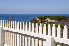 Fence at Point Loma. National Park in San Diego, California Royalty Free Stock Image