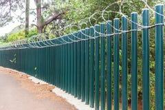 Fence Poles Razor Wire Royalty Free Stock Photo