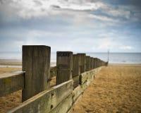 Fence at Portobello Beach, Edinburgh stock photo