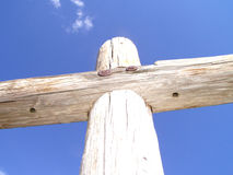 Fence post. A fence post or a cross Royalty Free Stock Images
