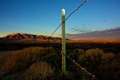 Fence Post and Sky Stock Image