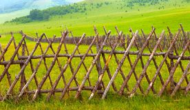 Fence in the prairies Stock Images