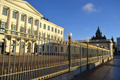 Fence of Presidential Palace, Helsinki Royalty Free Stock Photo