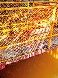 Fence for protection. Metal fence protect our from an  accident Royalty Free Stock Images