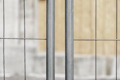 A fence for protection. A steel fence for protection on the construction site royalty free stock images