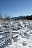Fence in Pyrenees Royalty Free Stock Photography