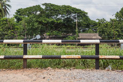 Fence. Rail station in Thailand Stock Images