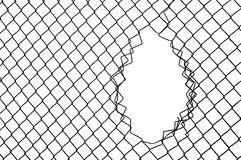 Fence, railing vulnerabilities on a white background. Stock Photography
