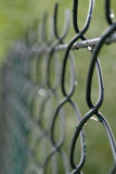 Fence after rain Stock Photography