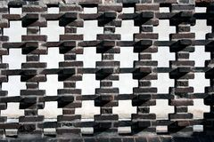 Fence of the red brick. On church on Vysehrad in Prague Stock Photography