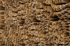 Fence Rolls. Wooden slat fencing rolls stacked up Royalty Free Stock Image