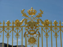Fence of the royal palace. Part of the fence of the royal palace at Versailles, France Stock Photos