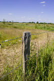 The Fence. Rural spot - bright day - clear sky Royalty Free Stock Images