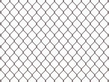 Fence from rusty mesh Stock Image