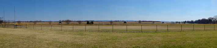 Fence With Safety Cap Panorama Royalty Free Stock Photos