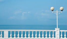 Fence  sea coast Royalty Free Stock Photo