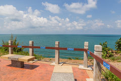Fence at sea view point Royalty Free Stock Image