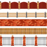 Fence Seamless Border Set Royalty Free Stock Images