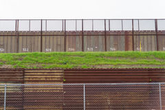 Fence Seperating Mexico From California United States Mexican Border Stock Images