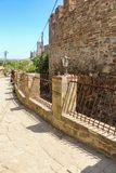 Fence at the serf moat. Genoese ancient fortress near the city of Sudak Stock Images