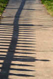 Fence Shadow Royalty Free Stock Photo