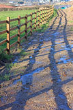Fence and shadows Royalty Free Stock Image