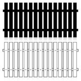 Fence silhouette set Royalty Free Stock Image