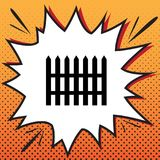 Fence simple sign. Vector. Comics style icon on pop-art background.. Illustration.