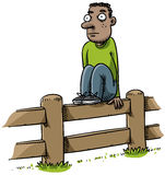 Fence Sitter Stock Photo