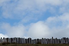 Fence and sky. Royalty Free Stock Photos