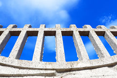 Fence and sky background Royalty Free Stock Photography