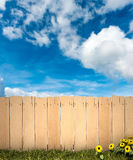 Fence and sky Royalty Free Stock Photo