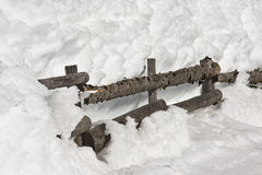 A Fence in the Snow Royalty Free Stock Photos
