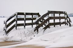 Fence and snow Stock Photo