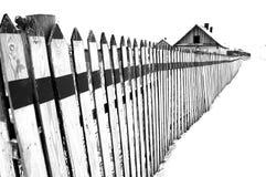 Fence in snow Stock Photos