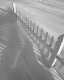 Fence in the Snow Royalty Free Stock Images