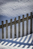 Fence and snow Stock Photography