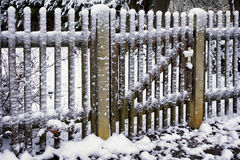 Fence and snow Royalty Free Stock Photos
