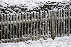 Fence and snow Royalty Free Stock Photo