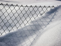 Fence and snow Stock Image