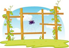 Fence Spider Royalty Free Stock Image