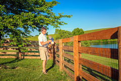 Fence staining Royalty Free Stock Photo